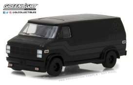 GMC  - Vandura 1980 black - 1:64 - GreenLight - 27950C - gl27950C | The Diecast Company