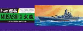 Aoshima - Boats  - abk15264 : 1/700 Japan Navy Battle Ship Musashi, plastic modelkit