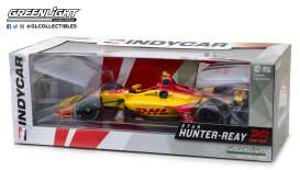 Honda  - Indy car #28 2018 yellow/red - 1:18 - GreenLight - 11022 - gl11022 | The Diecast Company