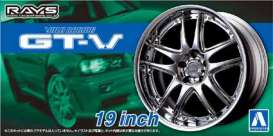 Aoshima - Wheels & tires  - abk15462 : 1/24 Volk Racing GT-V 19inch Wheels set