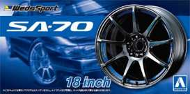 Aoshima - Wheels & tires  - abk15463 : 1/24 Weds Sports SA-70 18inch Wheels set