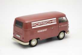 Volkswagen  - T1 Panel Van 1963 red/white - 1:18 - Welly - 18053TDR - welly18053TDR | The Diecast Company