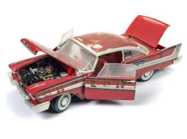 Plymouth  - 1958 red/rust - 1:18 - Auto World - AWSS119 | The Diecast Company