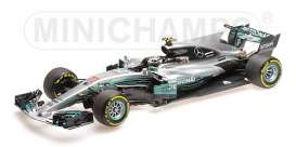 Mercedes Benz  - 2017 silver/turquoise - 1:18 - Minichamps - 110171877 - mc110171877 | The Diecast Company