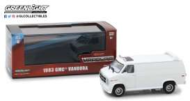 GMC  - Vandura custom 1983 white - 1:43 - GreenLight - 86326 - gl86326 | The Diecast Company