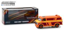 GMC  - Vandura custom 1983 orange with custom graphics - 1:43 - GreenLight - 86327 - gl86327 | The Diecast Company