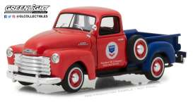 Chevrolet  - 3100 pick-up 1953 red/blue - 1:43 - GreenLight - 87010B - gl87010B | The Diecast Company