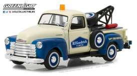 Chevrolet  - 3100 Tow Truck 1953 cream/blue - 1:43 - GreenLight - 87010C - gl87010C | The Diecast Company