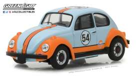 Volkswagen  - Beetle 1966 light blue/ orange - 1:43 - GreenLight - 87010D - gl87010D | The Diecast Company