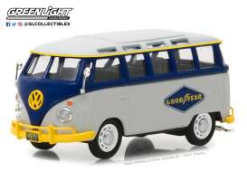Volkswagen  - T1 Samba bus grey/blue - 1:43 - GreenLight - 87010F - gl87010F | The Diecast Company