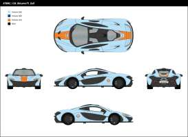 McLaren  - P1 2015 light blue/orange - 1:24 - Motor Max - mmax79642 | The Diecast Company