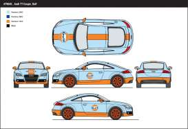 Audi  - 2015 light blue/orange - 1:24 - Motor Max - mmax79645 | The Diecast Company