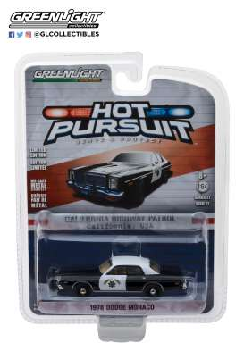Dodge  - Monaco 1978 black/white - 1:64 - GreenLight - 42840B - gl42840B | The Diecast Company