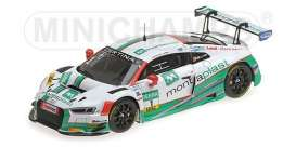 Audi  - R8 LMS 2017 white/green - 1:43 - Minichamps - 437171701  - mc437171701  | The Diecast Company
