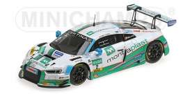 Audi  - R8 LMS 2017 white/green - 1:43 - Minichamps - 437171702 - mc437171702 | The Diecast Company