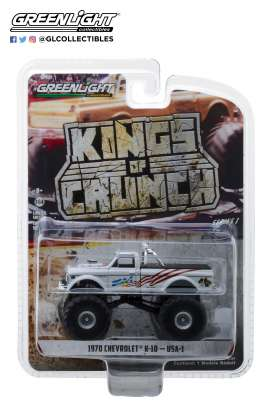 Chevrolet  - K-10 Monster Truck 1970 white - 1:64 - GreenLight - 49010B - gl49010B | The Diecast Company