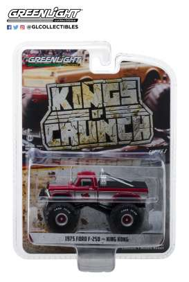 Ford  - F-250 Monster Truck 1975 red - 1:64 - GreenLight - 49010C - gl49010C | The Diecast Company