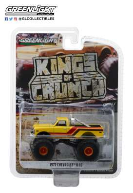 Chevrolet  - K-10 Monster Truck 1972 yellow/orange/red/brown - 1:64 - GreenLight - 49010F - gl49010F | The Diecast Company