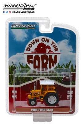 Ford  - 5610 Tractor 1988 yellow/white/black - 1:64 - GreenLight - 48010D - gl48010D | The Diecast Company