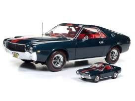 AMC  - AMX 1968 blazer blue/red - 1:18 - Auto World - AMM1124 | The Diecast Company