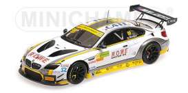 BMW  - M6 GT3 2017 white/black/yellow - 1:43 - Minichamps - 437172689 - mc437172689 | The Diecast Company