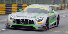Mercedes Benz  - AMG GT3 2017 grey/green - 1:43 - Minichamps - 437173050 - mc437173050 | The Diecast Company
