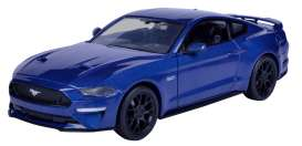 Ford  - Mustang GT 2018 blue - 1:24 - Motor Max - 79352b - mmax79352b | The Diecast Company