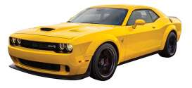 Dodge  - Challenger SRT 2018 yellow - 1:24 - Motor Max - mmax79350y | The Diecast Company