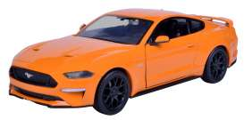 Ford  - Mustang GT 2018 orange - 1:24 - Motor Max - 79352o - mmax79352o | The Diecast Company