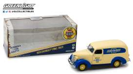 Chevrolet  - Panel Truck 1939 cream/blue - 1:24 - GreenLight - 18242 - gl18242 | The Diecast Company