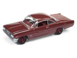 Pontiac  - Catalina 1961 brown - 1:64 - Johnny Lightning - JLSP008A | The Diecast Company
