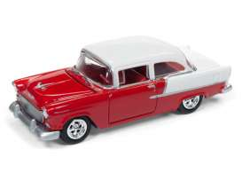 Chevrolet  - Bel Air 1955 red/white - 1:64 - Johnny Lightning - SP005B - JLSP005B | The Diecast Company