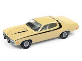 Plymouth  - Roadrunner 1974 yellow/black - 1:64 - Auto World - AWSP002A | The Diecast Company