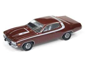 Plymouth  - Roadrunner 1974 red poly/white - 1:64 - Auto World - AWSP002B | The Diecast Company