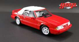 Ford  - Mustang LX Convertible 1992 red - 1:18 - GMP - gmp18822 | The Diecast Company