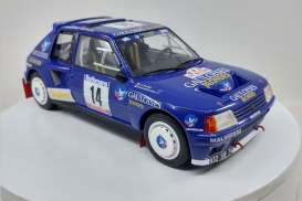 Peugeot  - 205 T16 #14 1985 blue/white - 1:18 - Triple9 Collection - 1800205 - T9-1800205 | The Diecast Company
