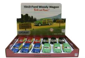 Ford  - Woody Wagon  1949 various - 1:36 - Kinsmart - KT5402D | The Diecast Company