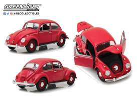 Volkswagen  - Beetle 1967 candy apple red - 1:18 - GreenLight - 13511 - gl13511 | The Diecast Company