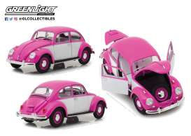 Volkswagen  - Beetle rhd 1967 pink/white - 1:18 - GreenLight - 13512 - gl13512 | The Diecast Company
