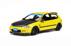 Honda  - Civic (EG6) SiR II Spoon yellow/black - 1:18 - OttOmobile Miniatures - otto524 | The Diecast Company