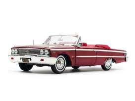 Ford  - Galaxie 500 open convertible 1963 chestnut - 1:18 - SunStar - 1454 - sun1454 | The Diecast Company