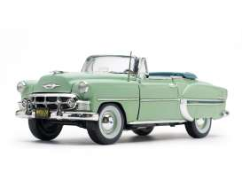 Chevrolet  - Bel Air Convertible 1953 surf green - 1:18 - SunStar - 1624 - sun1624 | The Diecast Company