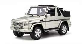 Mercedes Benz  - G Class Cabriolet silver - 1:18 - OttOmobile Miniatures - otto766 | The Diecast Company
