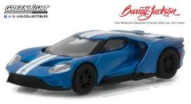 Ford  - GT 2017 blue/white - 1:64 - GreenLight - gl29964 | The Diecast Company