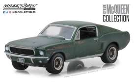 Ford  - Mustang GT fastback  1968 green - 1:64 - GreenLight - gl44722 | The Diecast Company