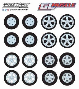 Wheels & tires Rims & tires - 2018  - 1:64 - GreenLight - 13164 - gl13164 | The Diecast Company