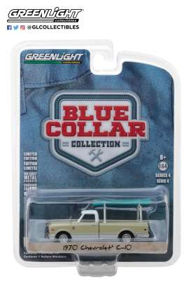 Chevrolet  - C10 pick-up 1970 green - 1:64 - GreenLight - 35100B - gl35100B | The Diecast Company