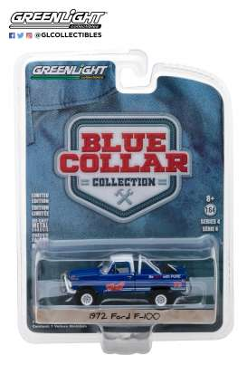 Ford  - F100 pick-up 1972 blue - 1:64 - GreenLight - 35100D - gl35100D | The Diecast Company