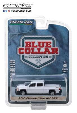 Chevrolet  - Silverado pick-up 2018 white - 1:64 - GreenLight - 35100F - gl35100F | The Diecast Company