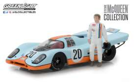 Porsche  - 917K *Steve Mcqueen* blue/orange - 1:43 - GreenLight - 86435 - gl86435 | The Diecast Company